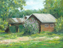 House In Spring, Country Life,...