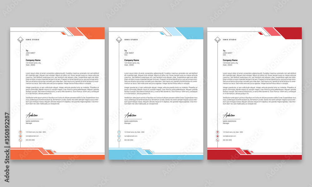 Fototapeta Corporate Letterhead Design