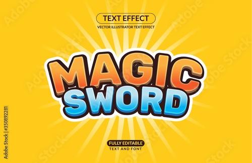 Vászonkép Editable Vector Text Effect For Branding, Mockup, Social Media Banner, Cover, Bo