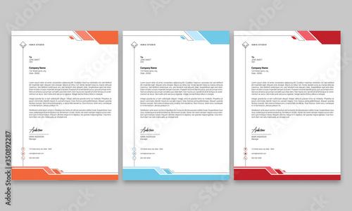 Fototapeta Corporate Letterhead Design obraz