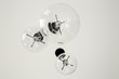 canvas print picture - bottom view of light bulbs on ceiling