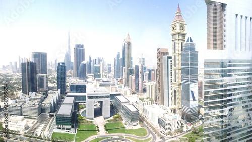 Canvas Distant View Of Burj Khalifa In City