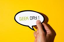 Text Geek Day In A Speech Ball...