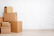 Moving Day Concept - Cardboard...