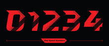 Numbers Abstract Red Speed Sty...