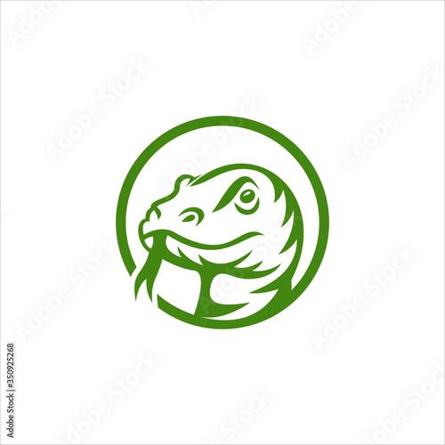 komodo dragon security sport emblem badges logo template vector illustration Wall mural