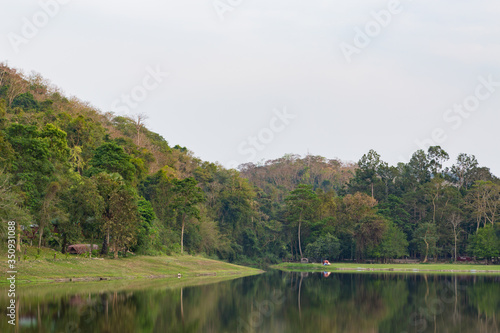 Fototapeta Khao Ruak Reservoir at Namtok Samlan National Park in Saraburi Province Thailand is a reservoir that tourists come to relax or camping during the holiday obraz na płótnie