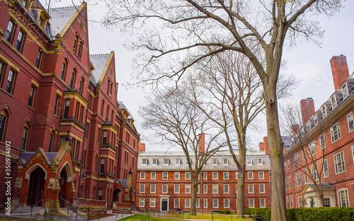 Photo Dormitories and Harvard Computer Society in Harvard Yard reflex