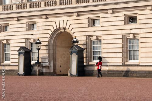 A queen's guard marching Buckingham palace, London, England Wallpaper Mural