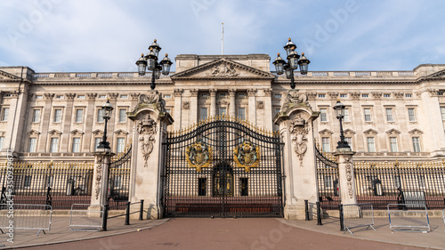 Canvas Print Panoramic of main gates of Buckingham palace, London, England