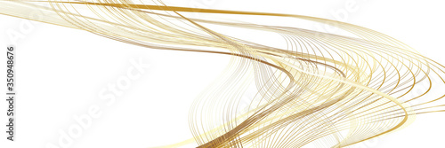 Fototapeta Abstract Golden and Yellow Pattern with Waves