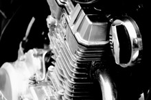 Close-up Of Motorcycle Engine