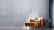 Leinwanddruck Bild - Modern cozy interior design of living room and concrete wall pattern background
