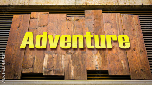 Photo Street Sign to Adventure