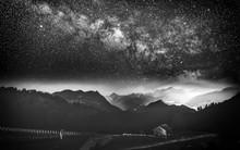 Voie Lactée Et Mont Blanc Dep...