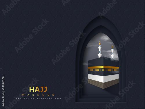 Fotografie, Obraz Hajj Mabrour vector banner