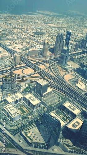 Foto Cityscape Seen From Burj Khalifa