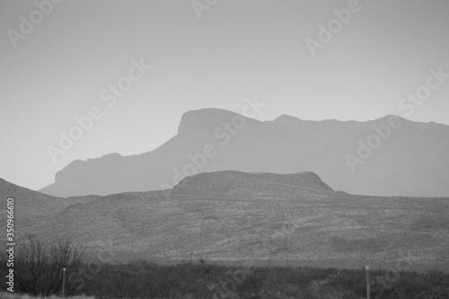 Desert Mountain in Black and White