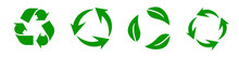 Recycle Set Panorama. Green Re...