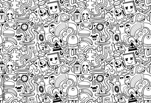 Cool modern seamless pattern Fotobehang