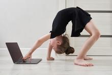 Little Girl Doing Gymnastics E...