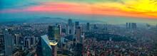 Istanbul Sunset Skyline Aerial...