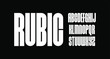 rubic, bold condensed font for poster and head line