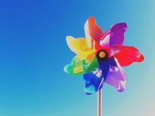 Close-up Of Pinwheel Toy Again...