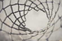Full Frame Shot Of Basket Ball Hoop
