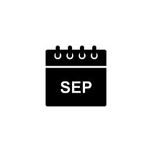 Black Calendar Icon For Septem...