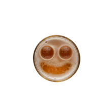 A Glass Of Beer With A Smiley ...