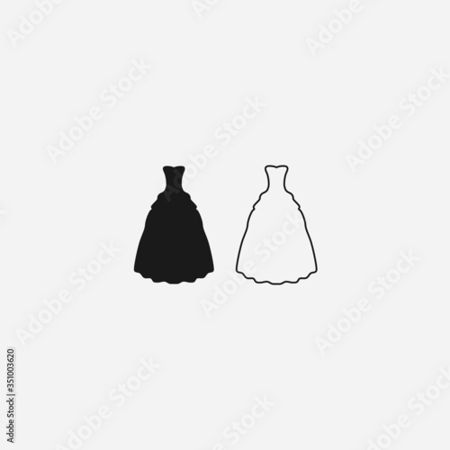 Fototapety, obrazy: wedding dress graphic element Illustration template design
