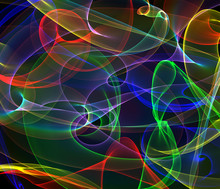 Twisting Colorful Lights. Vivi...