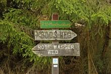 Wegweiser Am Rote Wasser-Weg I...