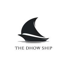 Dhow Ship Logo Design, Traditi...