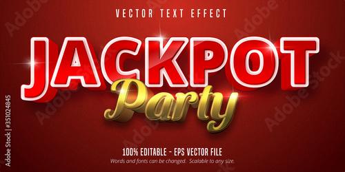 Fototapeta Jackpot prize style, editable text effect obraz