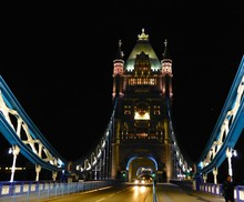Illuminated Tower Bridge At Night