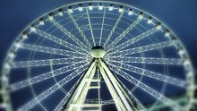 Low Angle View Of Illuminated Seattle Great Wheel Against Sky
