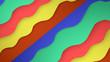Leinwanddruck Bild - A  3D Illustration  3D rendering  of a abstract background texture modern art style pattern banner.
