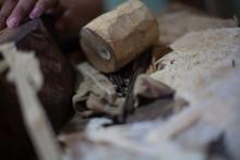 Messy Workbench In Handicraft Industry