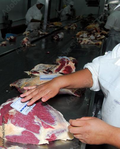 Fotografía carne vacuna en frigorifico