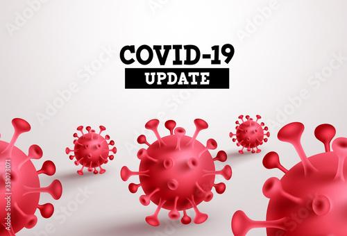 Fototapeta Covid-19 update vector banner