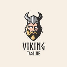 Simple And Clean Viking Head M...
