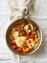 Roasted White Fish With Cherry...