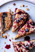 Pieces Of Blueberry Coffee Cak...