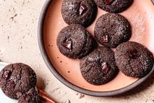 Closeup View Of Double Chocola...