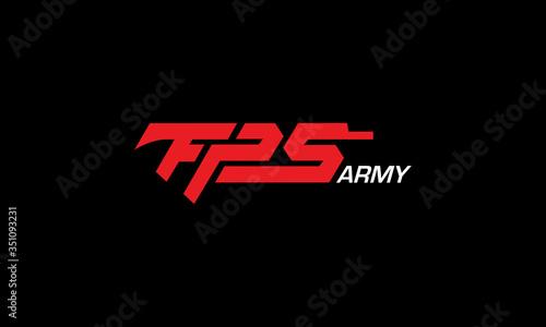 FPS Army Logo Design Canvas Print