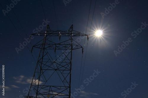 Fotografie, Obraz Low Angle View Of Electricity Pylon Against Sky
