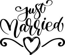 Just Married Svg Vector With H...