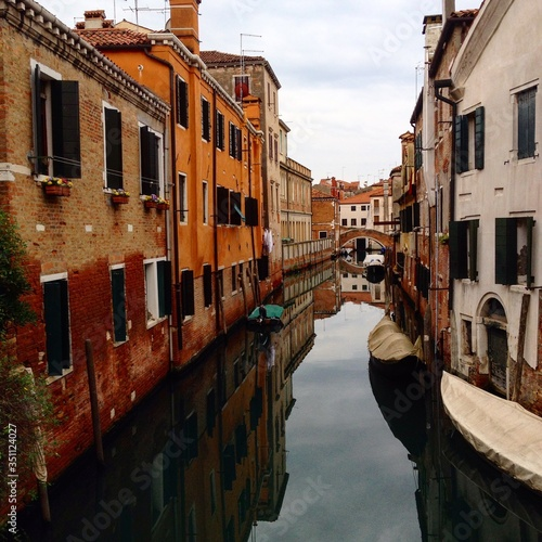 Fototapety, obrazy: Canal Along Built Structures